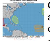 Cinco sistemas meteorológicos amenazan con convertirse en ciclones tropicales