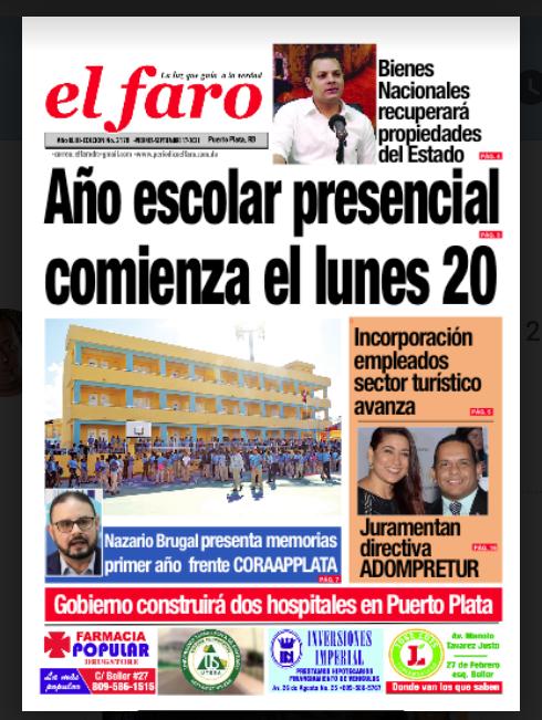 portada física de El Faro