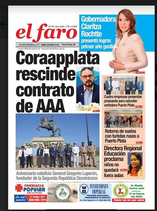 Portada física El Faro