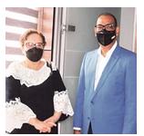 Ministro Obras Públicas, Deligne Ascención, y la Procuradora General de la República, Miriam Germán Brito