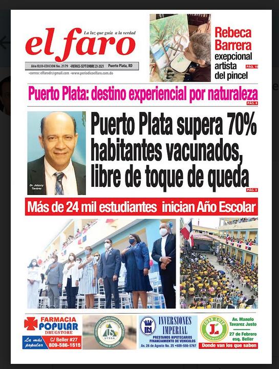 Portada periódico El Faro